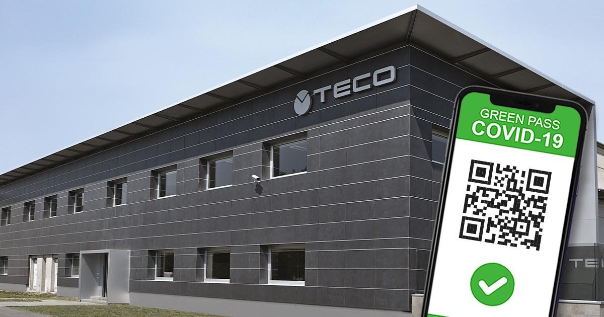 Accesso ai luoghi di lavoro di TECO SRL a partire dal 15 Ottobre 2021