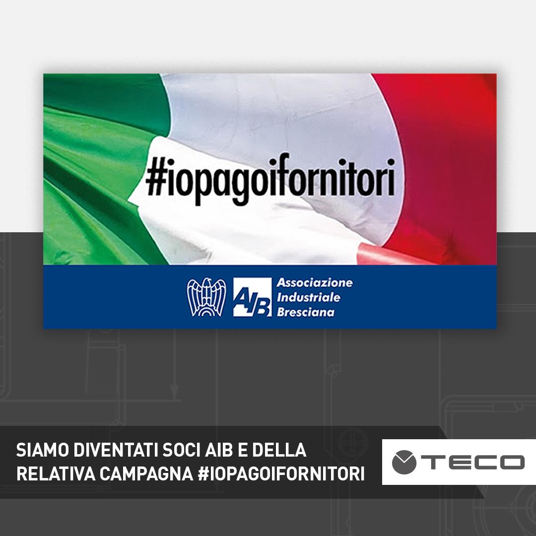 Anche TECO aderisce volontariamente alla campagna #iopagoifornitori promossa dall'AIB