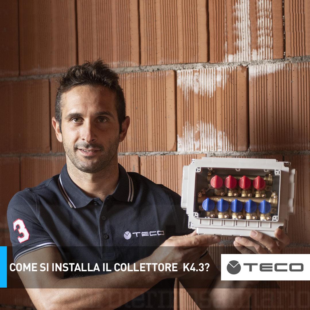 Come si installa il collettore multi intercettazione acqua sanitaria K4.3?