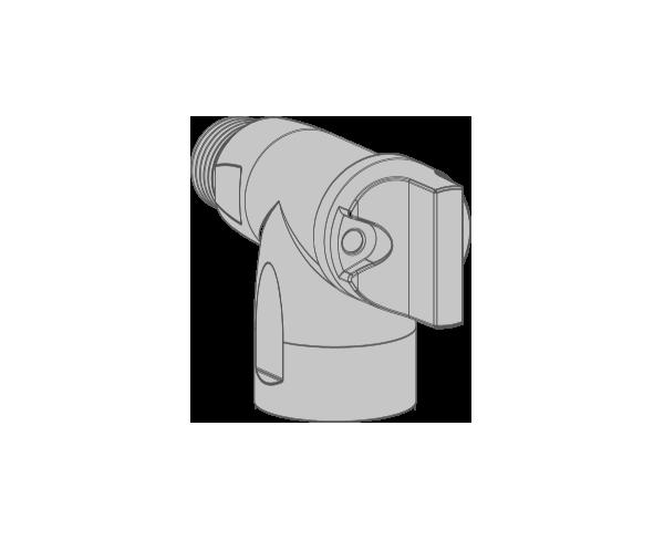 R2 VALVOLA CON CONNESSIONE RAPIDA E COMANDO FRONTALE VALVOLA 90° DIN-EN 15069 Per tubi flessibili DIN-EN14800