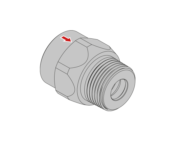 "Gasströmungswächter GST25LR0031MF 4 m³//h 1/"" AG//IG DVGW zugelassen"