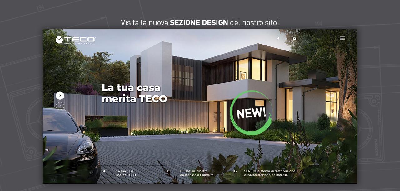 Nuova sezione design Teco