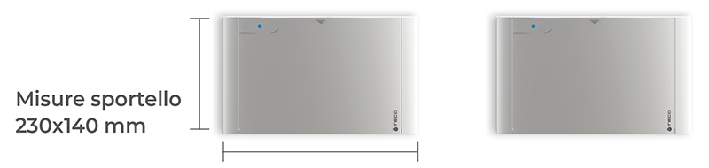 Kit di collegamento misure sportello 230x140mm